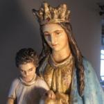 Renowacja figury Matki Boskiej w Złotowie