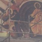 04. Praca nad freskiem w kościele w Mortęgach