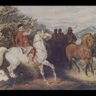 20. Juliusz Kossak - Polowanie z sokołem