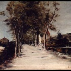 21. Mihaly Muncacsy - Avenue with one story house